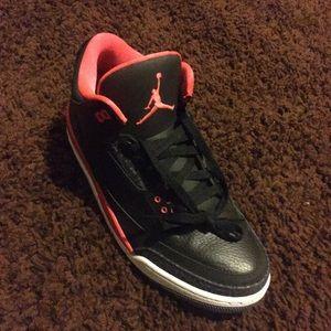 "Jordan Shoes - Jordan Retro 3's ""Crimson"""